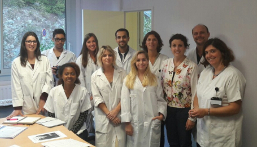 Les étudiants du Master DIS avec l'équipe SomHealth